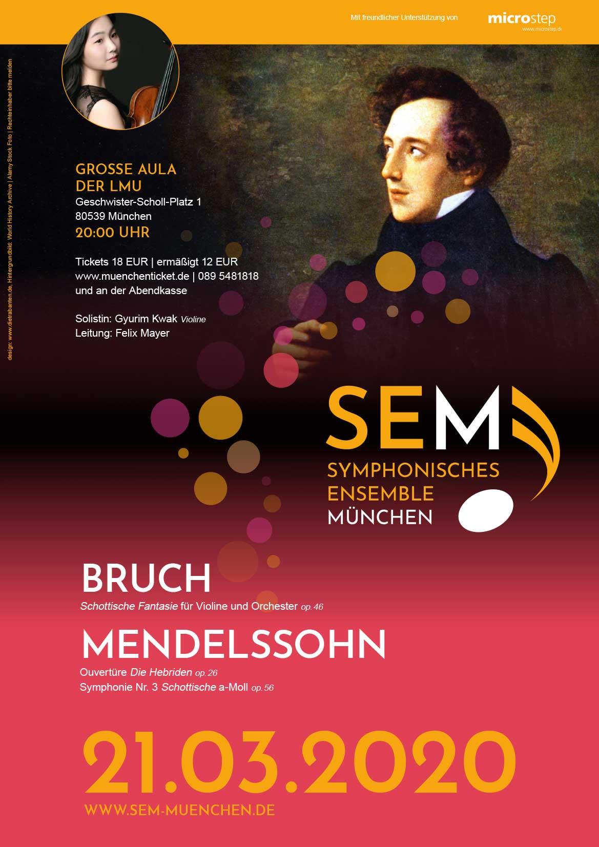 SEM Konzerteinladung März 2020 Plakat